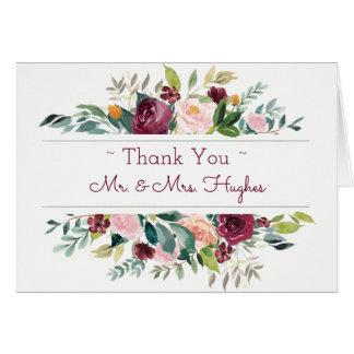 Burgundy Bouquet Thank You Card