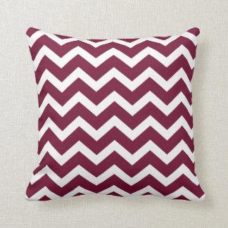 Burgundy Chevron Stripe Pillow