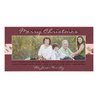 Burgundy Christmas Photo Card