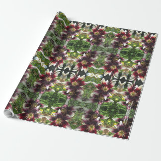 Burgundy Creme Asiatic Lilies Wrapping Paper