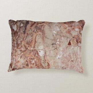 Burgundy Crimson Stoney Pebble Marble finish Decorative Cushion