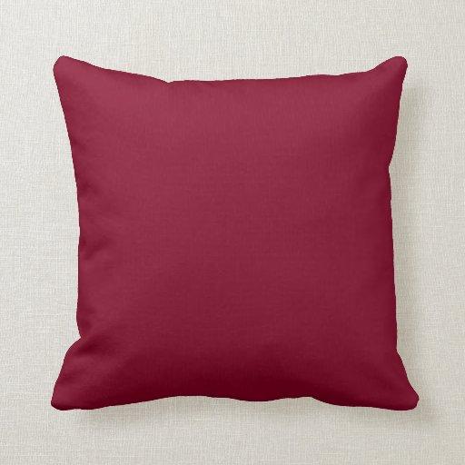 Burgundy Pillows
