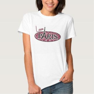 Burgundy Damask Pattern; Paris Tee Shirts
