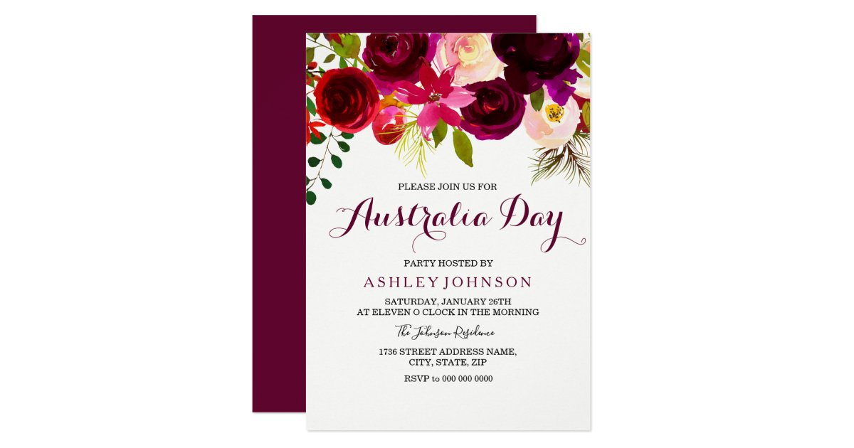 Wonderful Australia Day Party Invitations Contemporary - Invitation ...