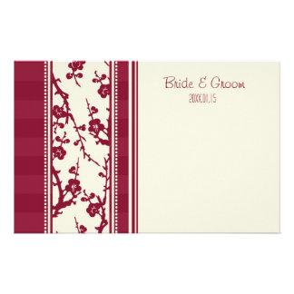 Burgundy Floral Bride & Groom Stationery
