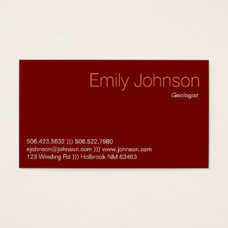 Burgundy Fossilized Wood Business Card