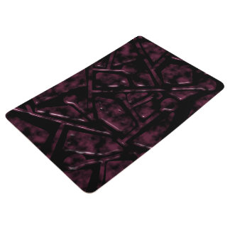 Burgundy Geometric Modern Design Floor Mat