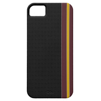 Burgundy & Gold Stripe iPhone 5 Case