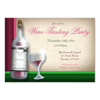 Burgundy & Green - Wine Tasting Invitations