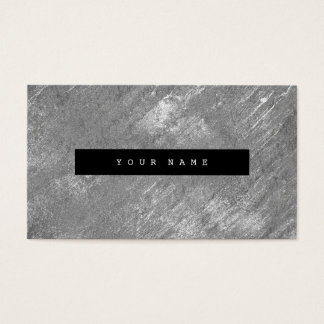 Burgundy Grungy Distressed Silver Cement Gray Business Card