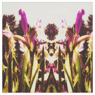 Burgundy Iris Fabric
