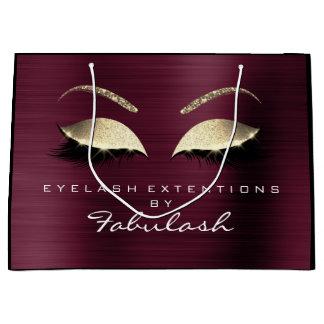 Burgundy Lashes Blush Makeup  Minimal Branding Large Gift Bag
