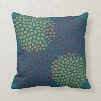 Burgundy Lime Blossoms Cushion