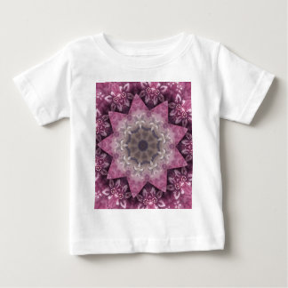 Burgundy Magenta Circular Spiked Pattern Baby T-Shirt