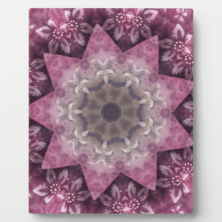 Burgundy Magenta Circular Spiked Pattern Photo Plaques