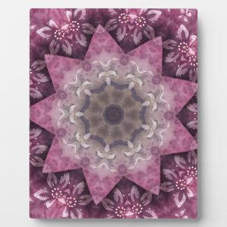 Burgundy Magenta Circular Spiked Pattern Plaque