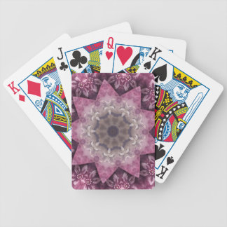 Burgundy Magenta Circular Spiked Pattern Poker Deck