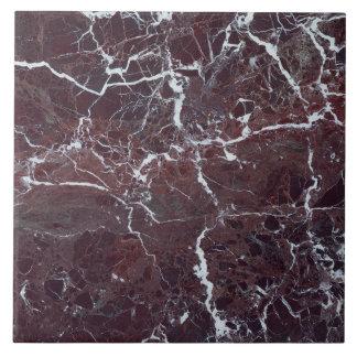 Burgundy marble ceramic tile