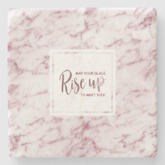 Burgundy Marble May Your Glass Rise Up To Meet You Stone Coaster