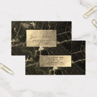Burgundy Maroon Gold Sepia Marble Foil Botanical Business Card