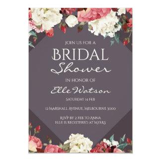 Burgundy Marsala Bridal Shower Invitation, Wedding Card