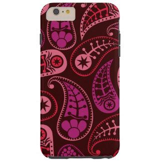 Burgundy Paisley iPhone 6/6s Plus,Tough Phone Case