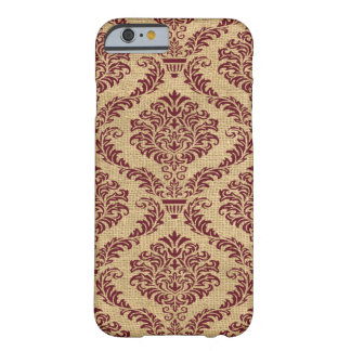 Burgundy Parisian Moods Damask Barely There iPhone 6 Case