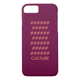 Burgundy Peach ###### CULTURE Pattern iPhone 7 Case