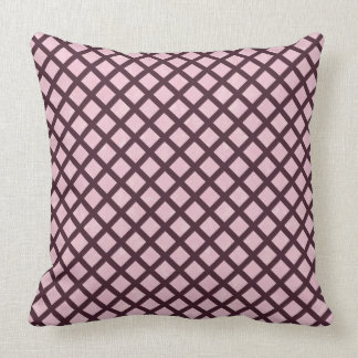 Burgundy Pink Criss Cross Throw Pillow
