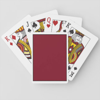 Burgundy Playing Cards