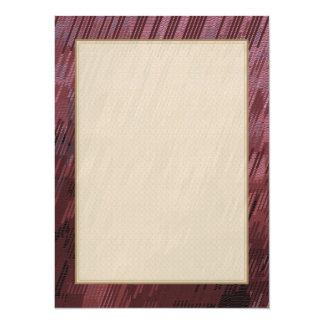 Burgundy Rain 5.5x7.5 Paper Invitation Card