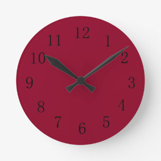 Burgundy Red Kitchen Wall Clock