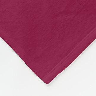 Burgundy Red-Violet Fleece Blanket