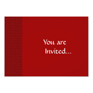 Burgundy Red Weave Look 5x7 Paper Invitation Card