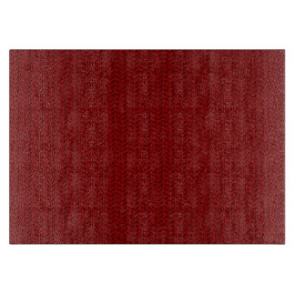 Burgundy Red Weave Mesh Look Cutting Boards
