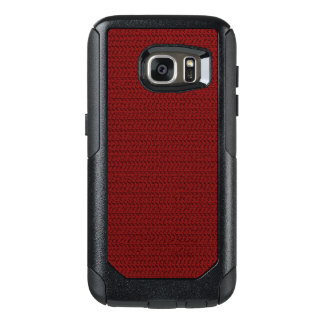 Burgundy Red Weave Mesh Look OtterBox Samsung Galaxy S7 Case