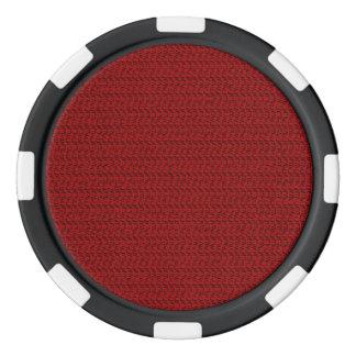 Burgundy Red Weave Mesh Look Poker Chips