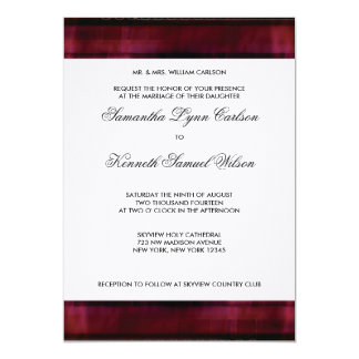 Burgundy Red Wedding Invitation