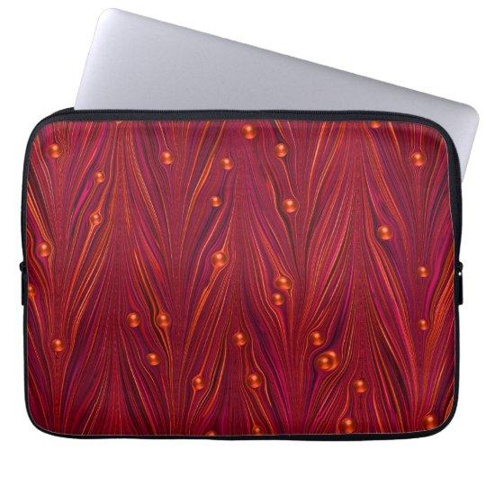 Burgundy Red Wine Pearl Laptop Sleeve