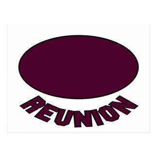 Burgundy Reunion Design Post Card