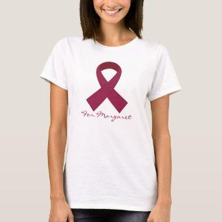 Burgundy Ribbon Multiple Myeloma Awareness Tee
