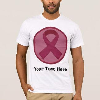 Burgundy Ribbon Personalized T-Shirt