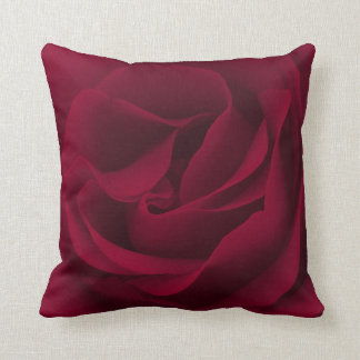 Burgundy Rose Magnified Cushion
