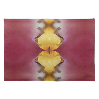 Burgundy  Rose Yellow Modern Chic Pattern Placemat