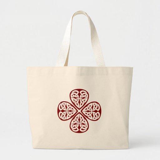 burgundy shamrock celtic knot bags