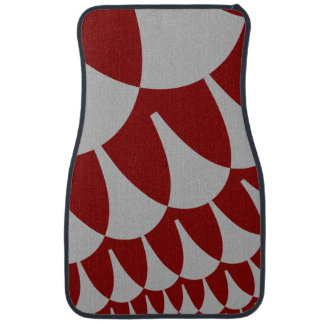 Burgundy Silver Scales Car Mats