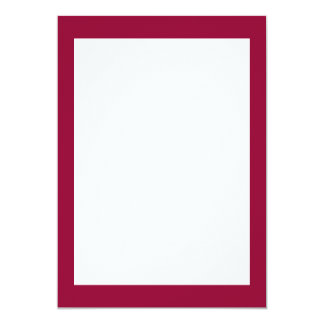 Burgundy Solid Color 5x7 Paper Invitation Card
