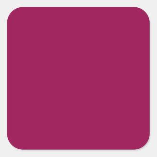 Burgundy Square Sticker