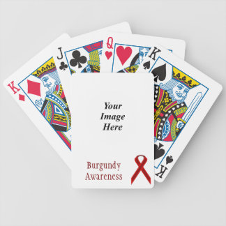 Burgundy Standard Ribbon by Kenneth Yoncich Bicycle Playing Cards