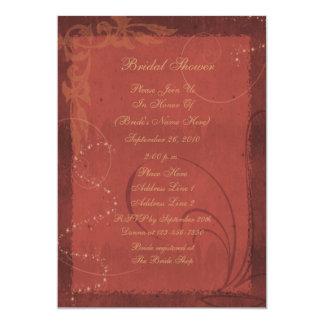 Burgundy Swirl Design Bridal Shower Invite